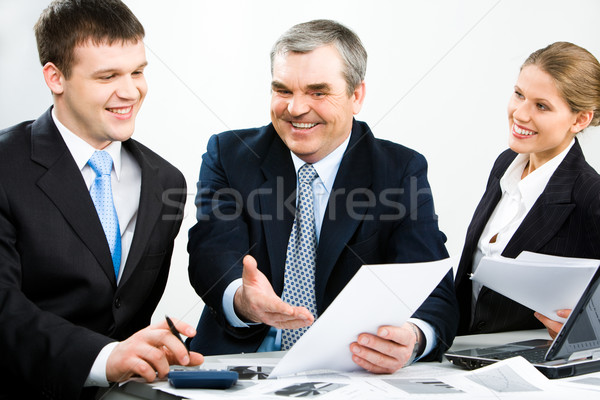 Stock photo: Discussing documents
