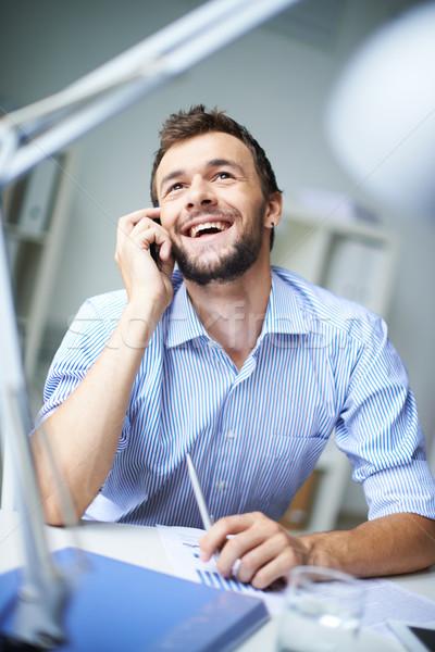 Alo elegant om de afaceri telefon afaceri Imagine de stoc © pressmaster