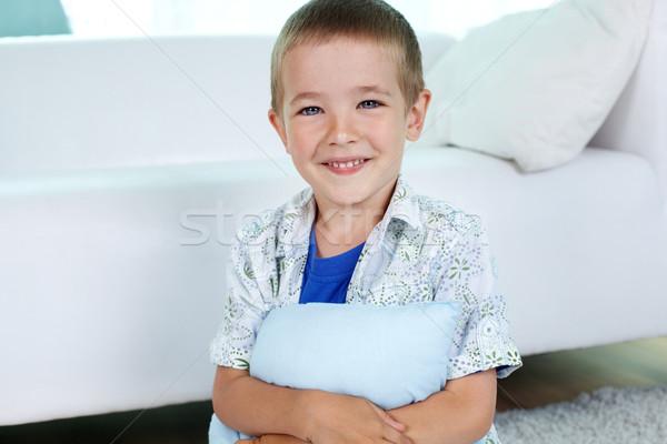 Stockfoto: Zorgeloos · kind · portret · gelukkig · weinig · jongen