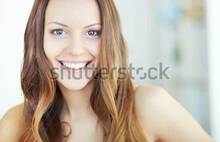 自然の美 肖像 小さな 女性 見える ストックフォト © pressmaster