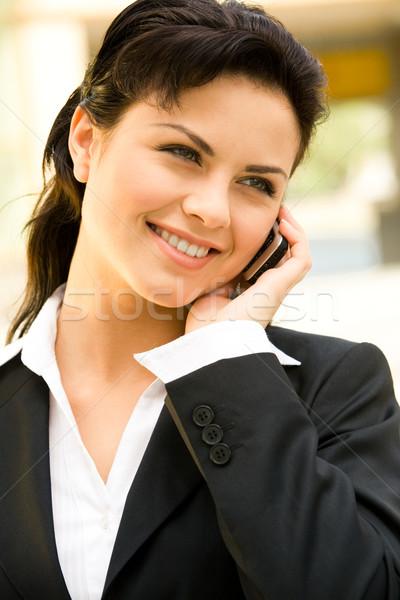 作業 会話 プロファイル 美人 呼び出し 電話 ストックフォト © pressmaster
