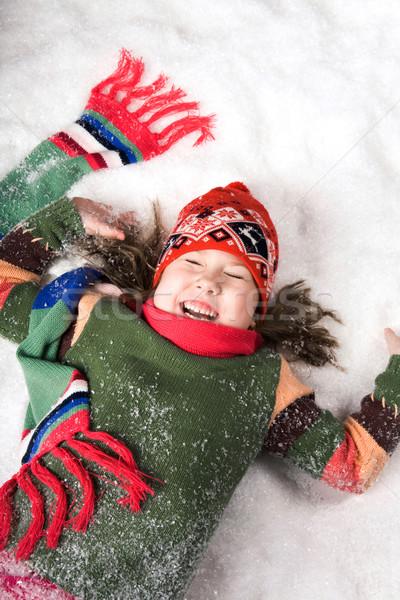 Fotoğraf kız kış Stok fotoğraf © pressmaster