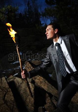 勇敢な リーダー 画像 エレガントな 男 ストックフォト © pressmaster