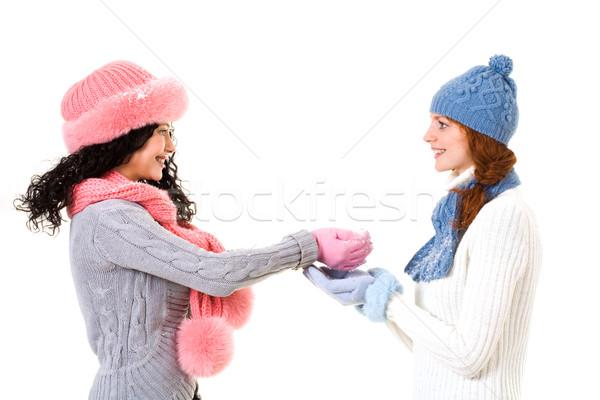 Playing with snow Stock photo © pressmaster