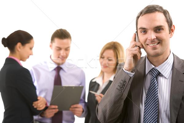 Stockfoto: Roepen · foto · knap · werkgever · partner · werken