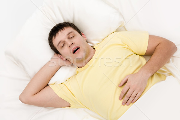 храп устал человека храп глубокий Сток-фото © pressmaster