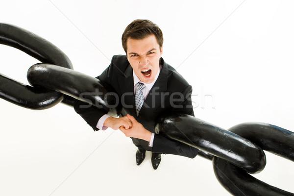 Rabbia ritratto tesa imprenditore due pesante Foto d'archivio © pressmaster