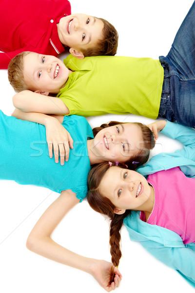 Сток-фото: друзей · группа · счастливым · небольшой · девушки · детей