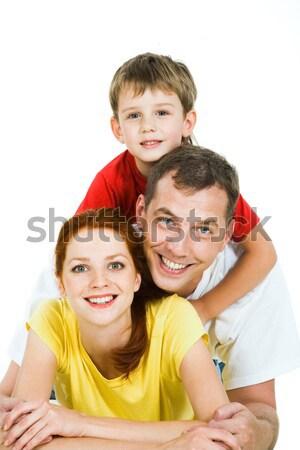 Trzy osoby portret szczęśliwy rodziny dziecko matka Zdjęcia stock © pressmaster