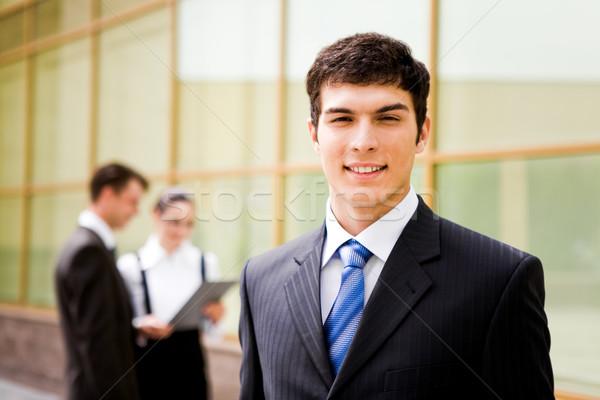 Di successo uomo ritratto attrattivo maschio guardando Foto d'archivio © pressmaster