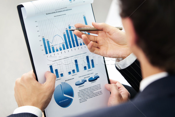 Financial work Stock photo © pressmaster
