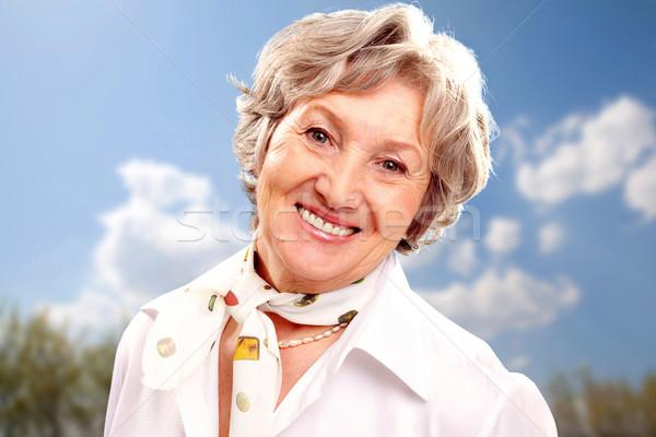 Grey-haired woman  Stock photo © pressmaster