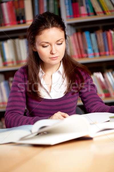 Working in library Stock photo © pressmaster