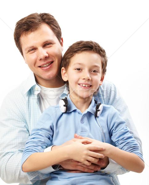 Zdjęcia stock: Syn · ojca · portret · szczęśliwy · patrząc · kamery · człowiek