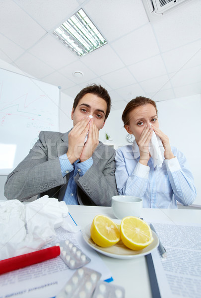 Sick businesspeople Stock photo © pressmaster