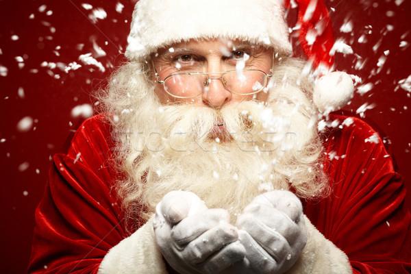 снега удар фото Дед Мороз очки Сток-фото © pressmaster