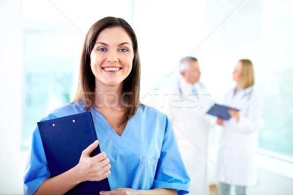 Cols bleus travailleur portrait joli Homme médecin Photo stock © pressmaster