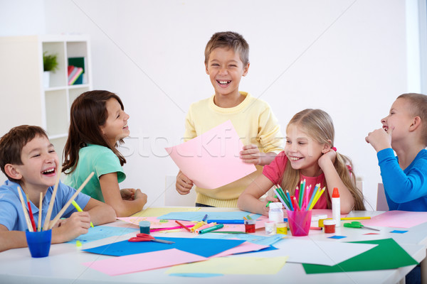 Children laughing Stock photo © pressmaster