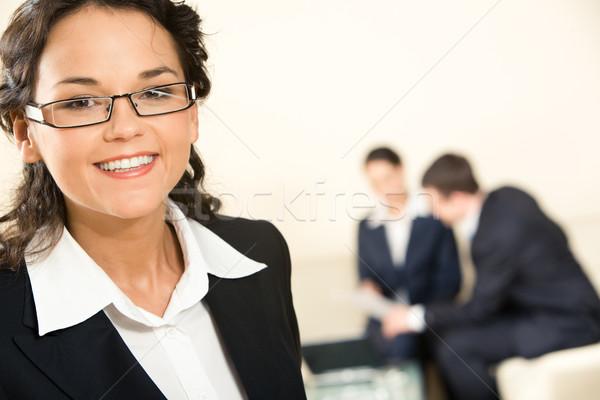 Foto stock: Inteligentes · líder · primer · plano · feliz · negocios · dama
