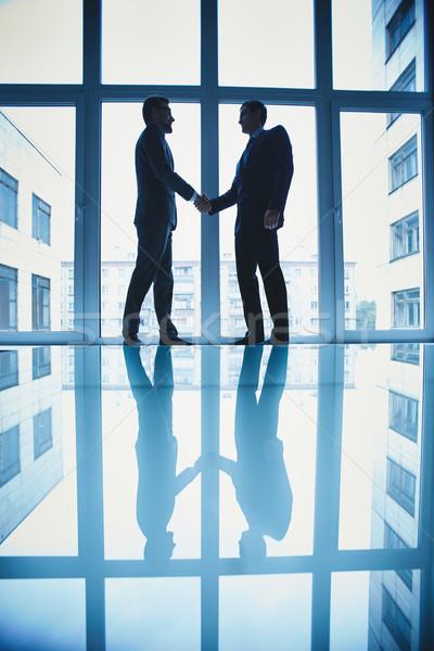 Stok fotoğraf: Işbirliği · fotoğraf · başarılı · işadamları · iş · adam