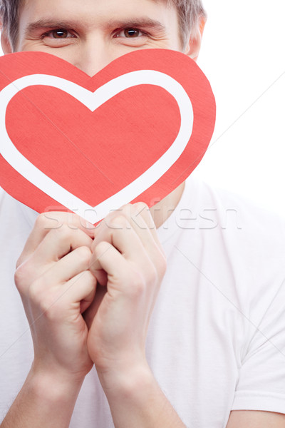 Guy with heart Stock photo © pressmaster