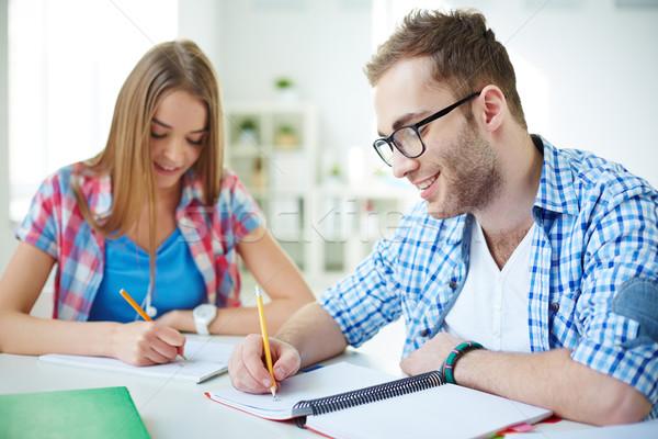 Сток-фото: студентов · урок · успешный · студент · из