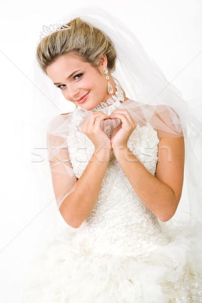 Bella sposa ritratto indossare bella abito Foto d'archivio © pressmaster