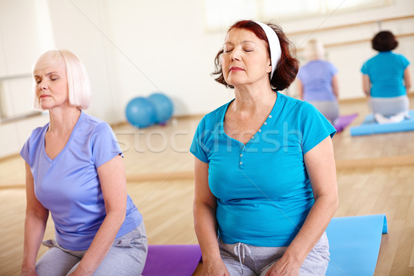 Relaxation in gym Stock photo © pressmaster