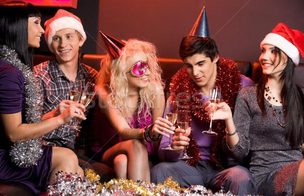 Stock fotó: ünnep · jókedv · portré · fiatalok · kommunikál · ünnepi