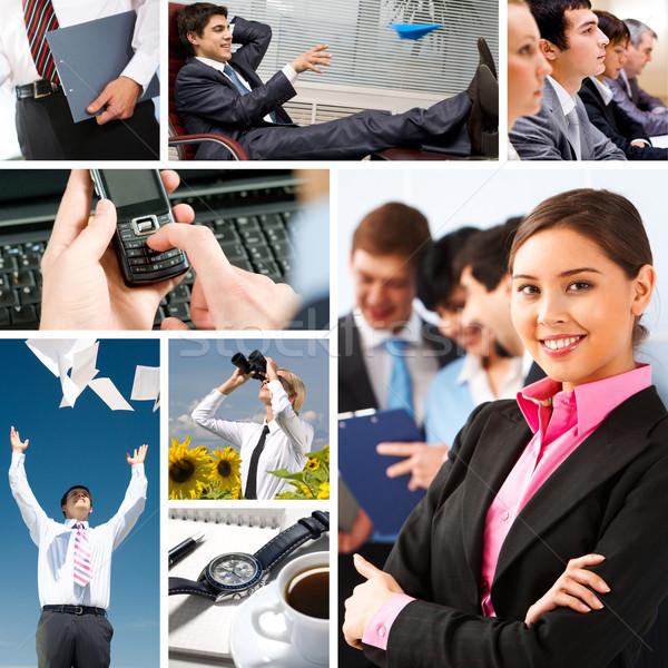Business collage Stock photo © pressmaster