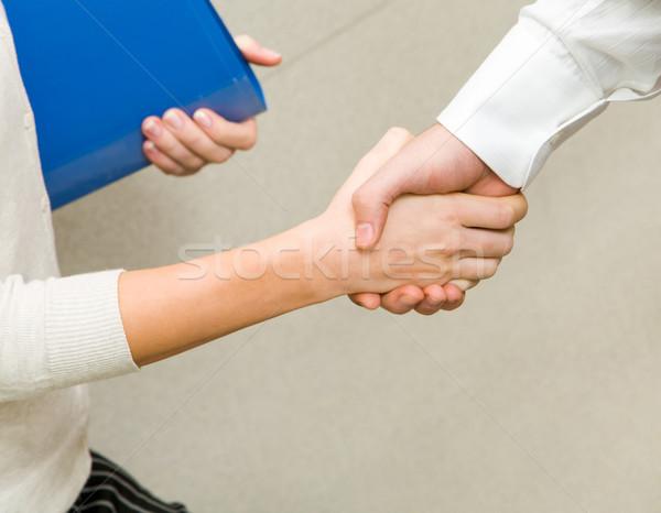 Stock fotó: Aláírás · szerződés · kép · partnerek · kézfogás · üzlet