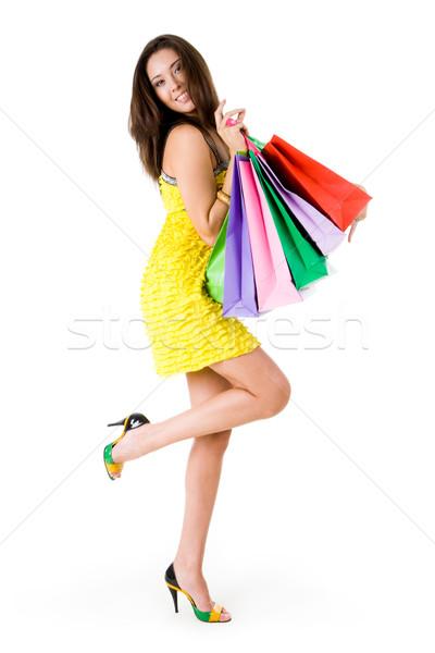 Extravagáns kép gazdag fiatal női sok Stock fotó © pressmaster