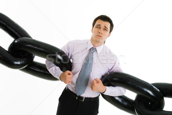Frustratie portret hulpeloos zakenman twee Stockfoto © pressmaster