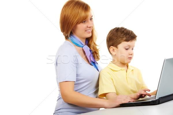 Ensino retrato mulher tipo computador Foto stock © pressmaster