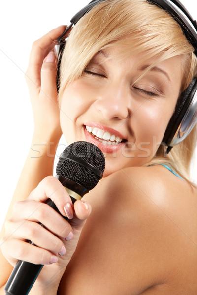 Fond of karaoke  Stock photo © pressmaster