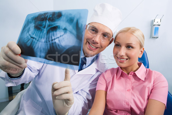 Showing x-ray photography Stock photo © pressmaster