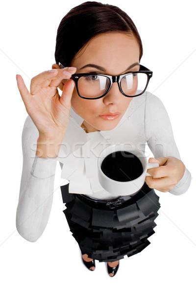 Drinking coffee Stock photo © pressmaster