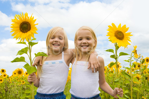 Happy girls Stock photo © pressmaster