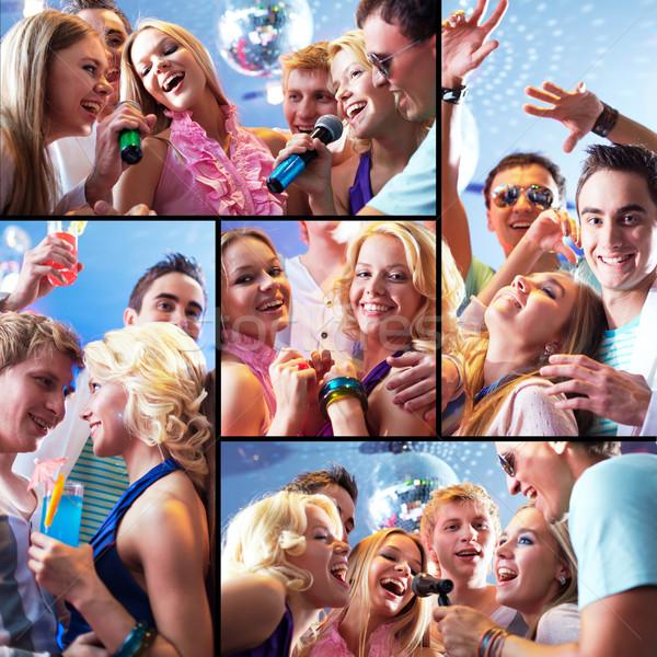 Szykowny strony kolaż dziewcząt Zdjęcia stock © pressmaster