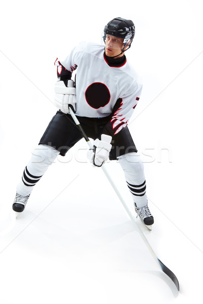 Concentrated hockey player Stock photo © pressmaster