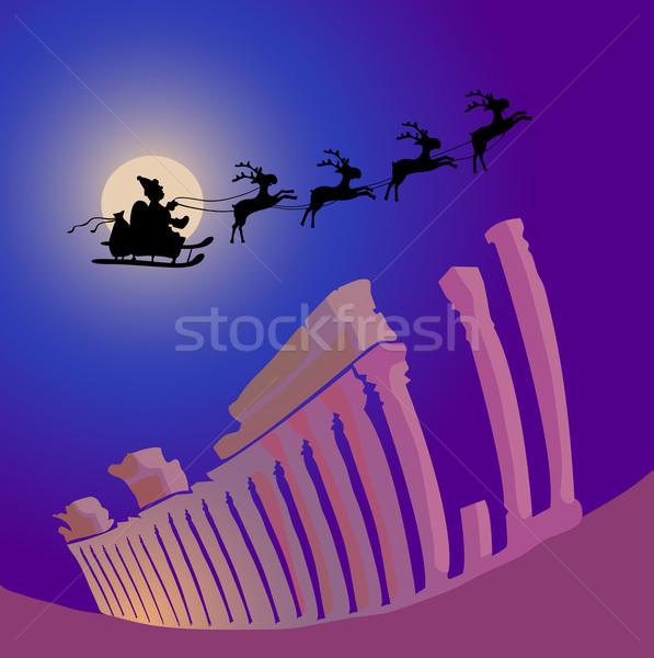 Santa Claus over Greece Stock photo © pressmaster
