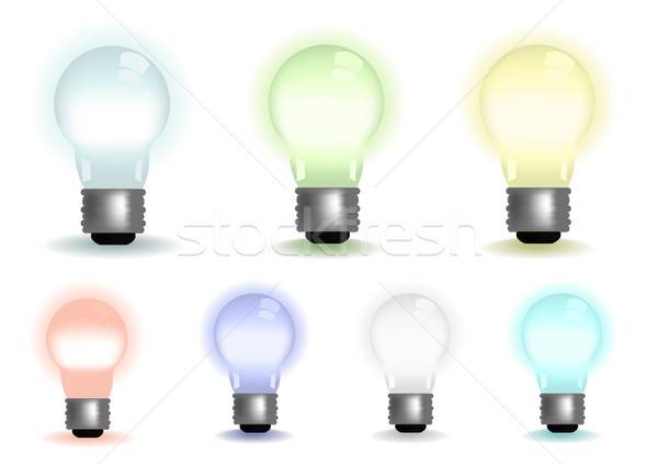 Stockfoto: Kleuren · licht · kunst · schilderij · energie