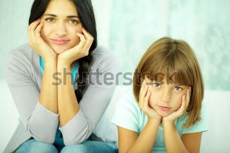 Megbeszél portré csinos oktató osztás ötlet Stock fotó © pressmaster