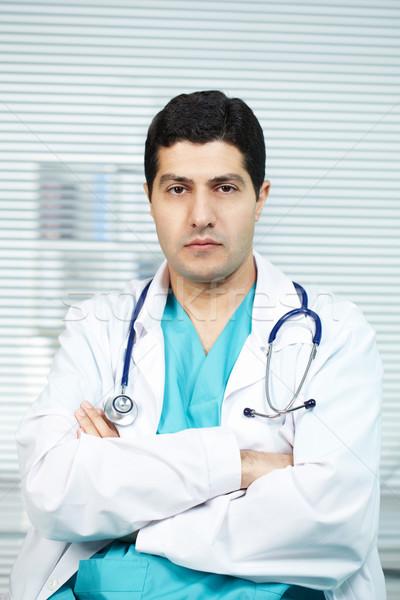 практикующий врач портрет серьезный врач стетоскоп глядя Сток-фото © pressmaster