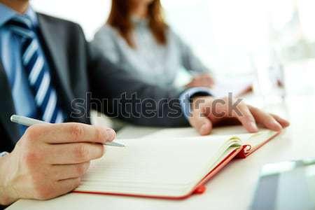 Erkek ofis çalışanı notlar organizatör iş Stok fotoğraf © pressmaster