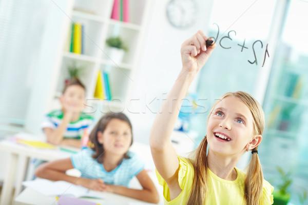 портрет девушки прозрачный совета образование мальчика Сток-фото © pressmaster