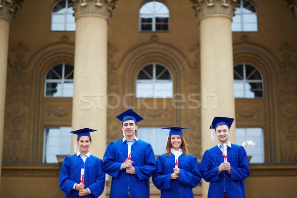 Students with diplomas Stock photo © pressmaster