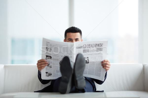 Reading news Stock photo © pressmaster