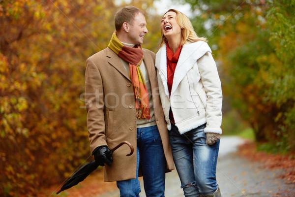 Data park portret extatisch paar lopen Stockfoto © pressmaster