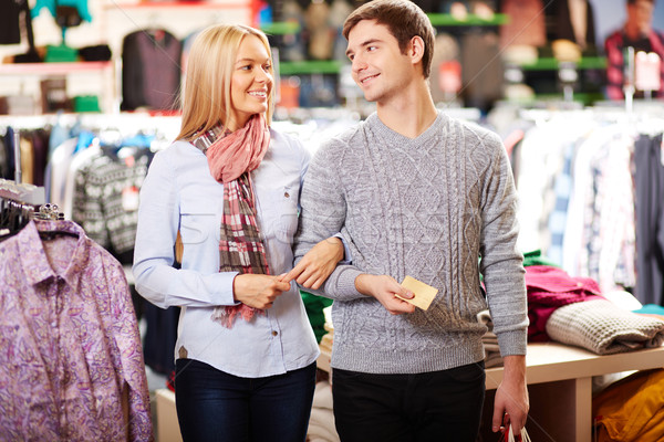 Couple in clothes department Stock photo © pressmaster